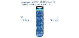 389 B10 ALKALINE 1,5V RAYMAX(389-390-LR1130-AG10-LR54-L1131)