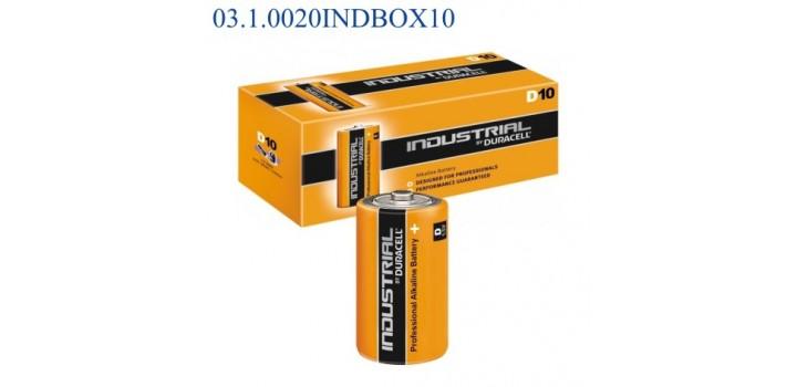 MN1300 TORCIA D 1.5V DURACELL INDUSTRIAL ALKALINE x10