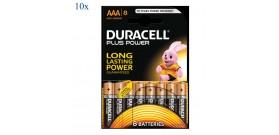 10 BLISTER di AAA B8 MINISTILO 1.5V POWER PLUS DURACELL OFFE