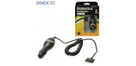 DURACELL CAR CHARGER CAVO AUTO a APPLE 30 PIN NERO 1A ESTENS