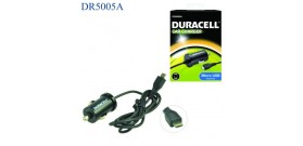 DURACELL CAR CHARGER CAVO AUTO a MICROUSB NERO 12V 1A 1mt OF