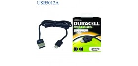 DURACELL SYNCeCHARGE CAVO USB a LIGHTNING NERO 1mt CER.APPLE