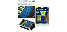 CARICA LCD ULTRA FAST +4 AA2400mAhR2U 220v+AUTO 12v VARTA