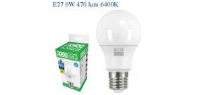 ECOLIGHT LED GOCCIA E27 6W>40W 6400K FREDDA 470lm