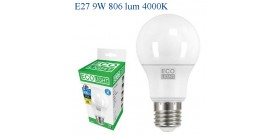 ECOLIGHT LED GOCCIA E27 9W>60W 4000K NATURALE 806lm
