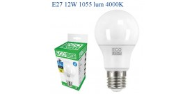 ECOLIGHT LED GOCCIA E27 12W>75W 4000K NATURALE 1055lm