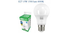 ECOLIGHT LED GOCCIA E27 15W>100W 4000K NATURALE 1500lm