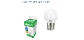 ECOLIGHT LED GOCCIA MINI E27 3W>25W 6400K FREDDA 250lm