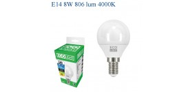 ECOLIGHT LED GOCCIA E14 8W>60W 4000K NATURALE 806lm