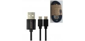 CAVO DA USB A MICRO USB-B & LIGHTNING NERO 1A 1mt PVC GROOVY
