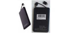 POWERBANK 2600mAh 5V 1A NERO PER MICRO USB-B o LIGHTNING