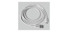 CAVO DA USB A LIGHTNING APPLE BIANCO 1A 2mt PVC GROOVY