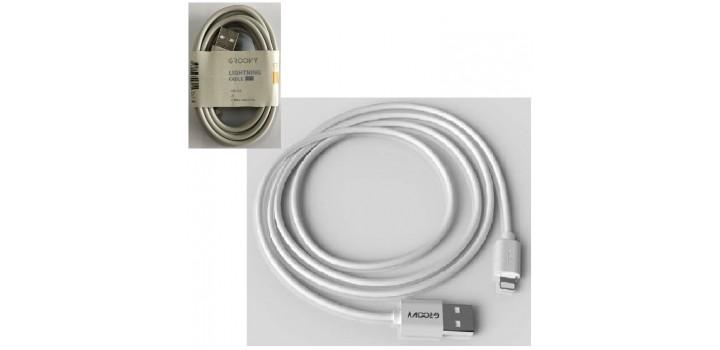 CAVO DA USB A LIGHTNING APPLE GREY 1A 2mt PVC GROOVY