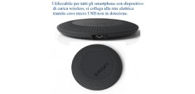 CARICATORE WIRELESS PAD MICRO-USB B GREY GROOVY