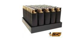 ACCENDINI BIC MAXI PIEZO GOLD/BLACK J38 x50