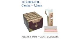 CARTINA BRAVO CORTA SINGOLA+50 FILTRINI 5,5mm x20
