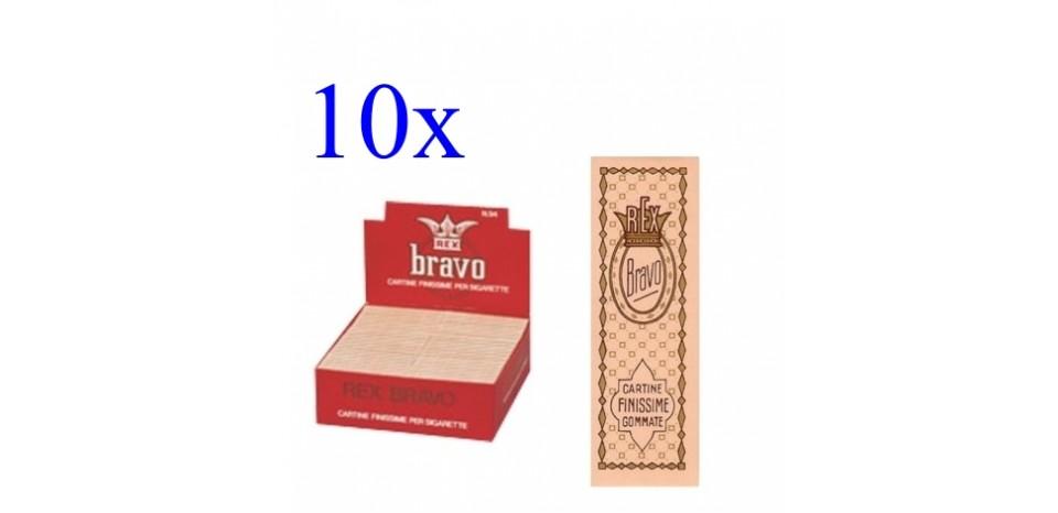 cartine bravo rex  10 CFda 100 LIBRETTI CARTINE BRAVO REX CORTE SINGOLE 40fgOF