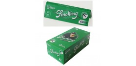 CARTINE SMOKING CORTE SINGOLE GREEN 60fg x50