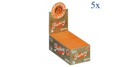 5 CFda 50 LIBRETTI CARTINE SMOKING CORTE SINGOLE ORANGE 60f