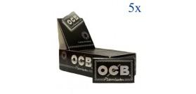 5 CFda 25 LIBRETTI CARTINE OCB CORTE DOPPIA NERA PREMIUM OF