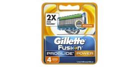 4 RICAMBI GILLETTE FUSION PROGLIDE POWER 5 lame