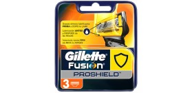 3 RICAMBI GILLETTE FUSION PROSHIELD 5 lame BLISTER