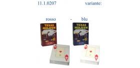 TEXAS HOLD'EM DAL NEGRO 55 CARTE 100% PVC ROSSO o BLU