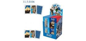 MODIANO POKER ITALY TURISTICHE 54 carte DISPLAYx24