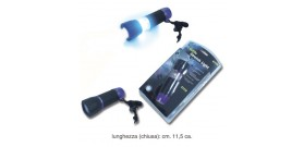 TORCIA 6 LED PLASTICA GOMMATA x4AAA non incl.IN BLISTER