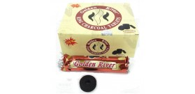 10 STECCHE DA 10 CARBONI GOLDEN RIVER xNARGHILE ANELLO °40