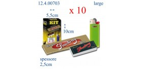 BOX ORIGINAL SMOKING ORO+Ac.BIC MINI+Filtro SMOKING)x10