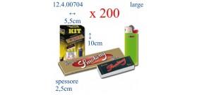 BOX ORIGINAL SMOKING ORO+Ac.BIC MINI+Filtro SMOKING)x200