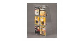 ESPOSITORE BANCO PLEXIGLASS 6 GANCI H45,4xL21,6xP18cm