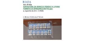 ESPOSITORE DA BANCO,PENSILE xSIGARETTEda20 2 PIANI+12 R60B®