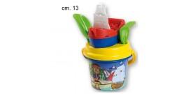 SECCHIELLO COMPLETO BABY PIRATI C/BARCA °13cm®