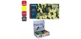1 PORTA CARD RIGIDO CARTONCINO SCUDO CONTACTLESS 18s.