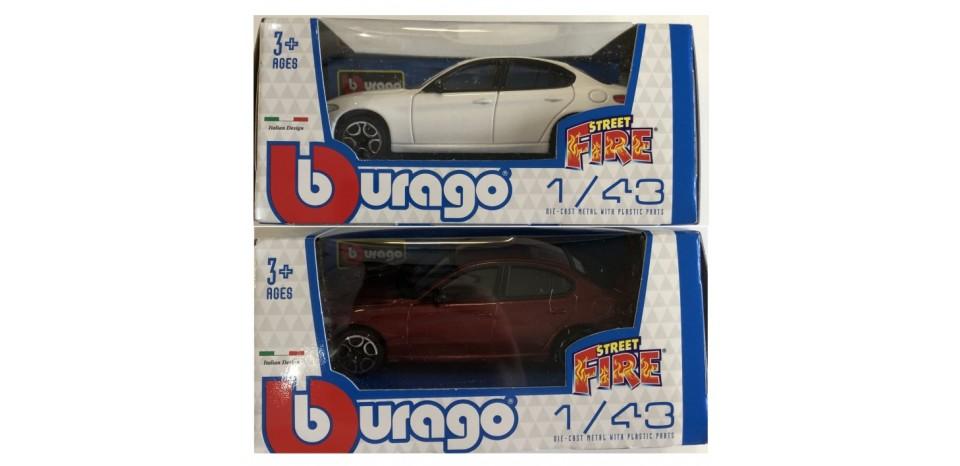BURAGO-MODELLINO-STREET-FIRE-ALFA-GIULIETTA-1-43-ASS-x1