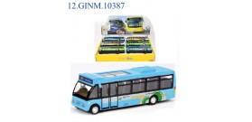 DISPLAY 6 CITY BUS METALLO FRIZIONE 3colori 14cm®