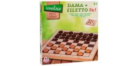 GIOCO DAMA+FILETTO LEGNO SCATOLA ®