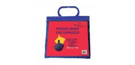 PONCHO IMPERMEABILE UNISEX CON CAPPUCCIO 50x80cm 4c.BORSETTA