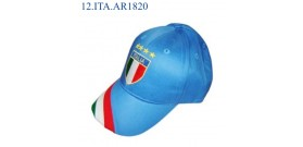 CAPPELLINO C/RICAMO SCUDETTO ITALIA 4 STELLE BLU