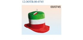 CAPPELLO CALCIO PELUCHE BANDIERA ITALIANA 30cm