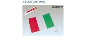 2 BANDIERE ITALIANE PER AUTO 45x30cm IN BLISTER