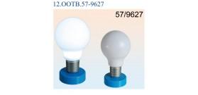 LAMPADA DA TAVOLO PVC 2 LED(x4 AA non incl.) 24cm