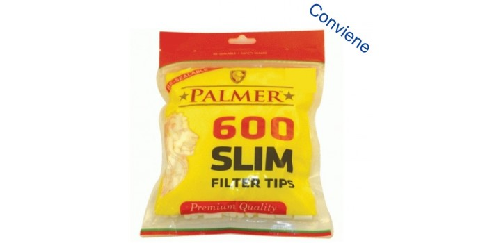 600 FILTRI PALMER 6mm SLIM 15mm LISCI IN BUSTA