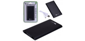 POWERBANK TEKMEE 5000mAh ALU 2x USB 2A xSMARTP/TABLET NERO