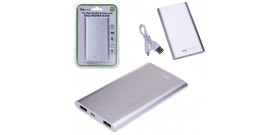 POWERBANK TEKMEE 5000mAh ALU 2x USB 2A xSMARTP/TABLET BIANCO