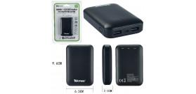 POWERBANK TEKMEE 10000mAh 2x USB 2A xSMARTPHONE/TABLET NERO
