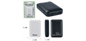 POWERBANK TEKMEE 10000mAh 2x USB 2A SMARTPHONE/TABLET BIANCO