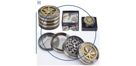 1 GRINDER METALLO CHAMP-HIGH LEAVES GOLD 4sc.°5xH3,7cm